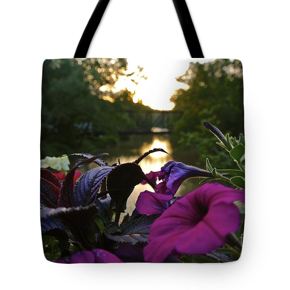 Romantic Tote Bag featuring the photograph Romantic River View by Customikes Fun Photography and Film Aka K Mikael Wallin