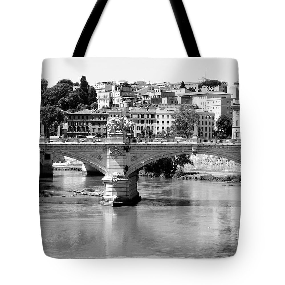 Rome Tote Bag featuring the photograph Rome - Ponte Vittorio Emanuele II by Carol Groenen