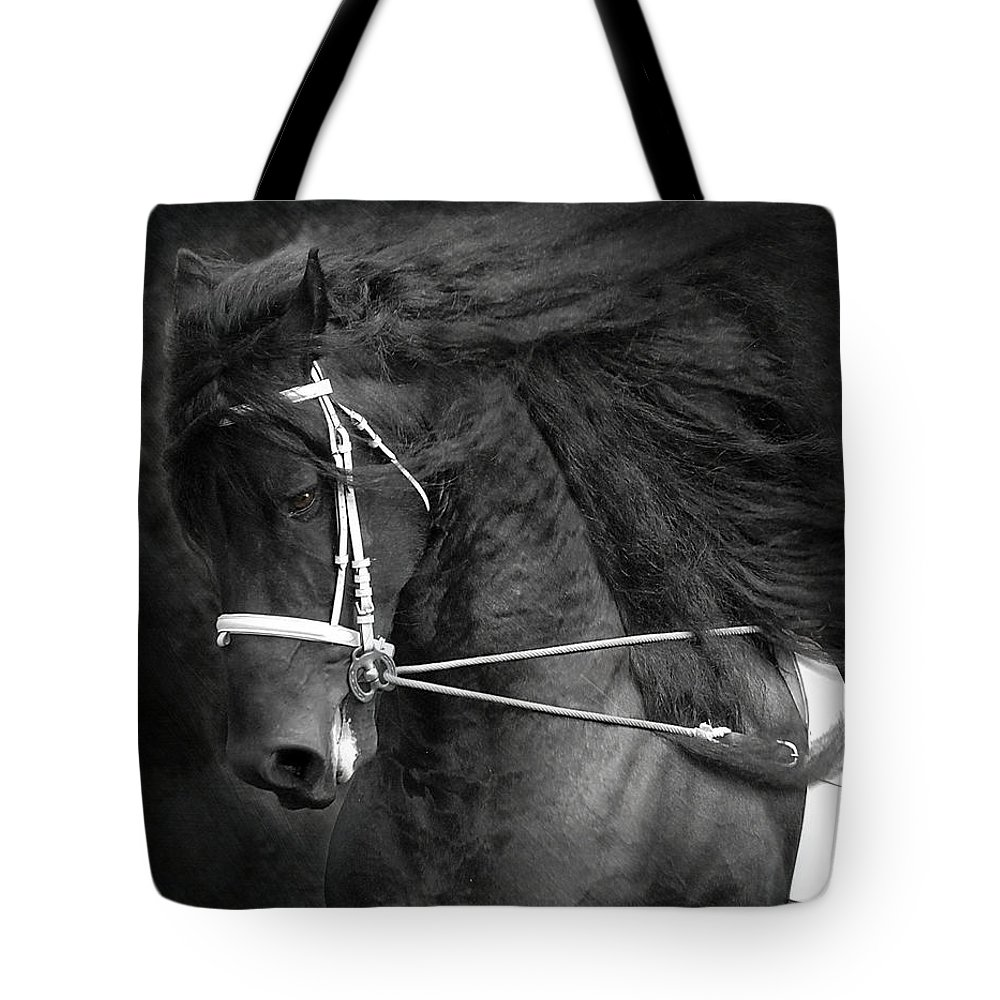 Friesian Tote Bag featuring the photograph Romke 401 Long Line by Fran J Scott