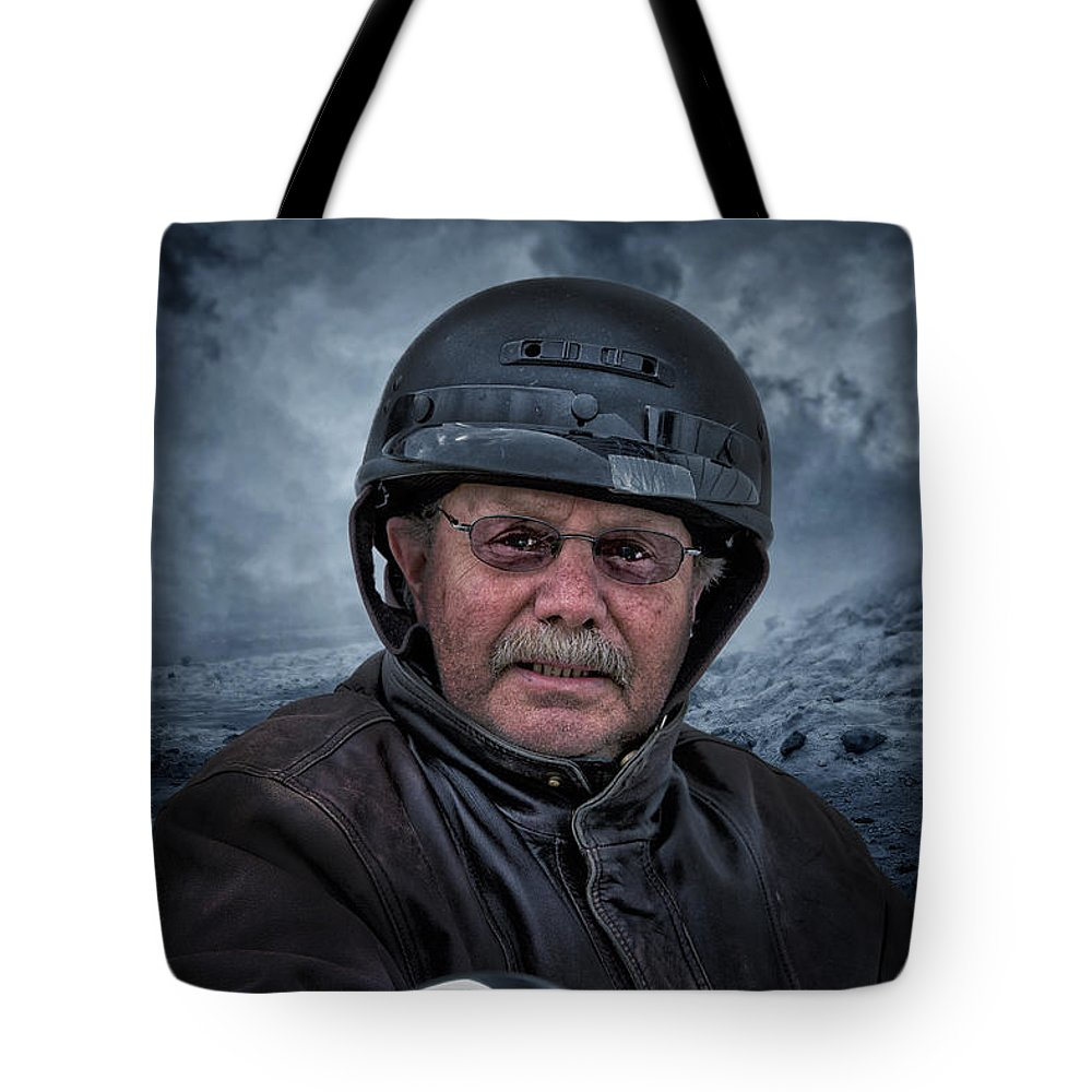 Tote Bag featuring the photograph Ron On His Shadow by John Herzog