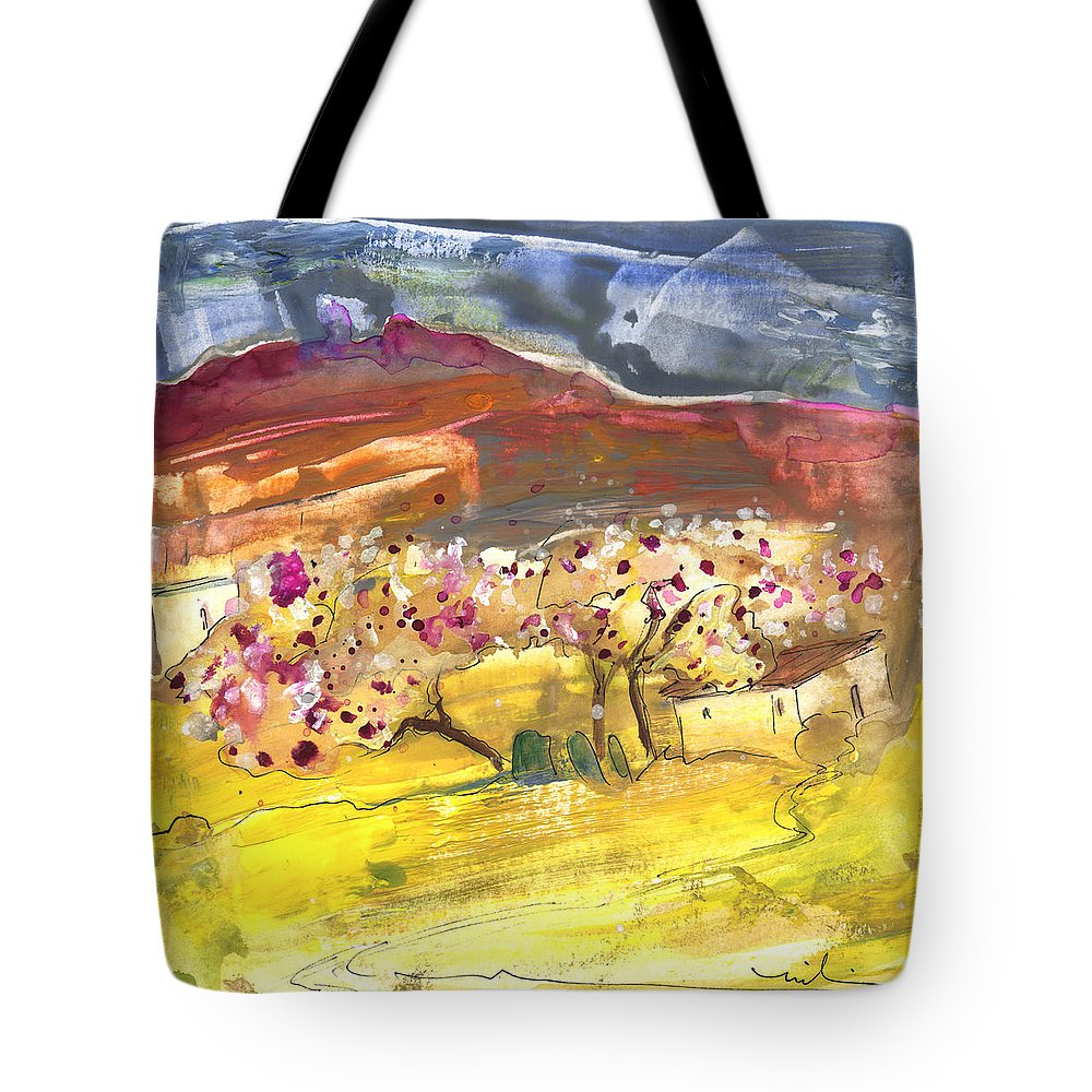 Travel Tote Bag featuring the painting Ronda 05 by Miki De Goodaboom