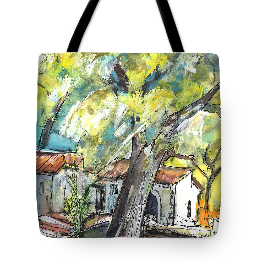 Travel Tote Bag featuring the painting Ronda 07 by Miki De Goodaboom
