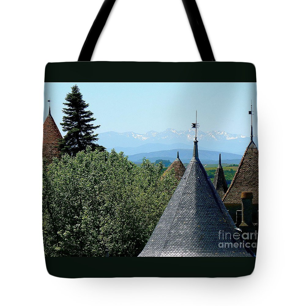 Carcassonne Tote Bag featuring the photograph Rooftops Of Carcassonne by France Art