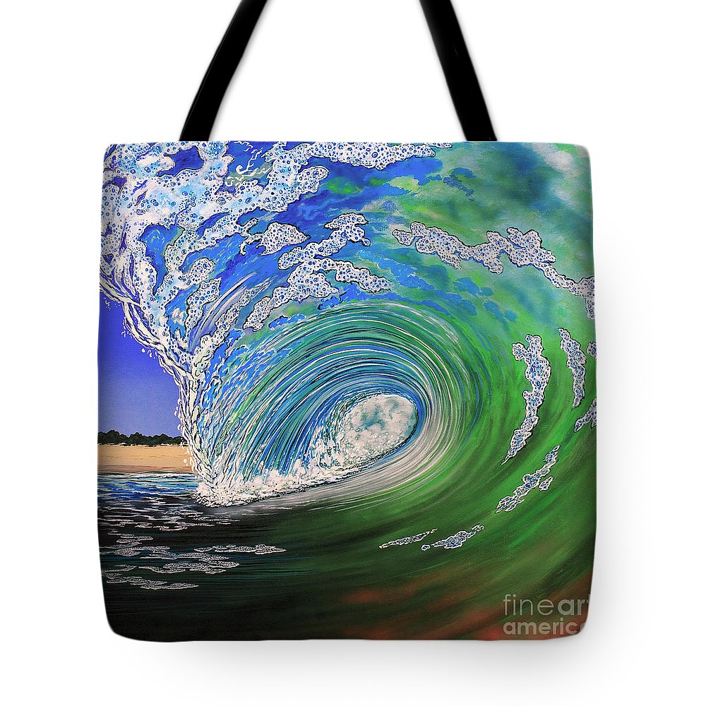 Waves Tote Bag featuring the painting Room With A View by Marty Calabrese
