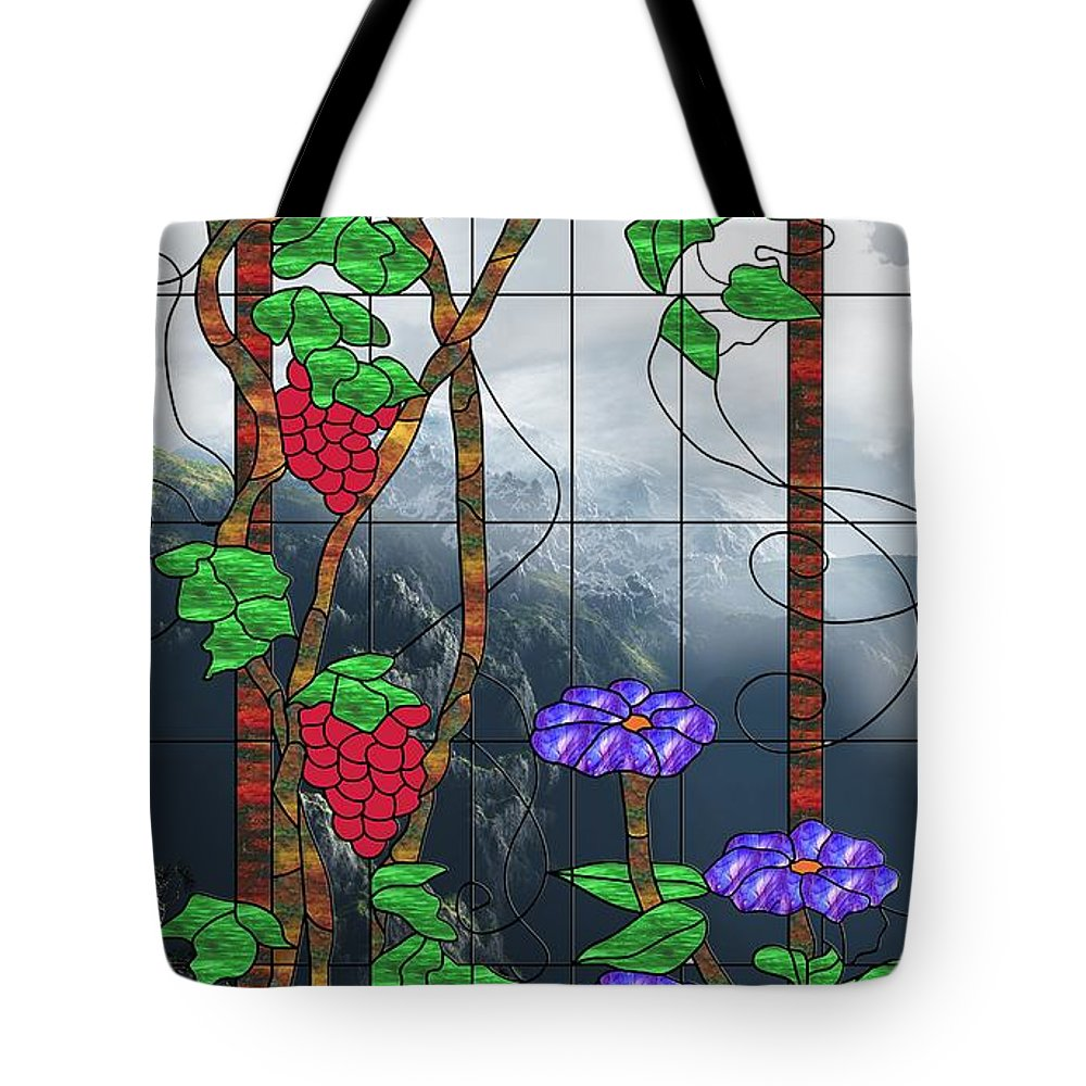 Room With A View Tote Bag featuring the mixed media Room With A View by Georgiana Romanovna