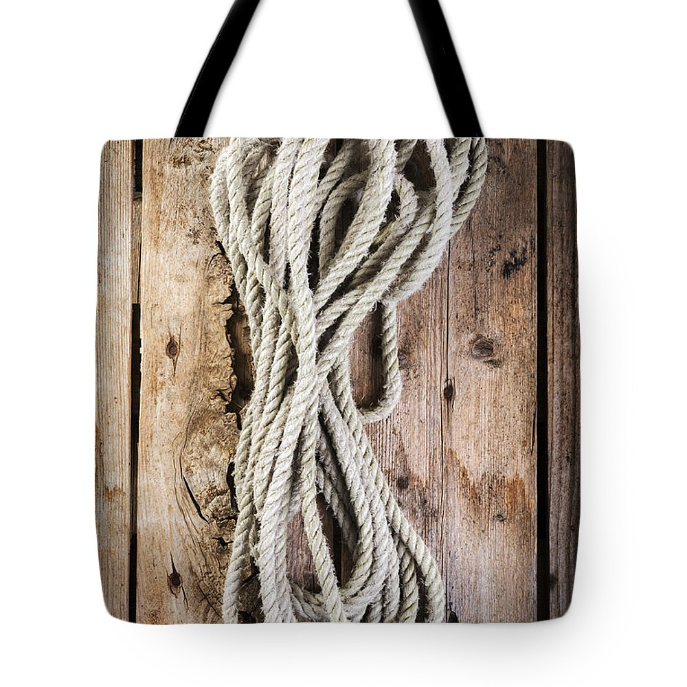 Rope Tote Bag featuring the photograph Rope by Tim Hester