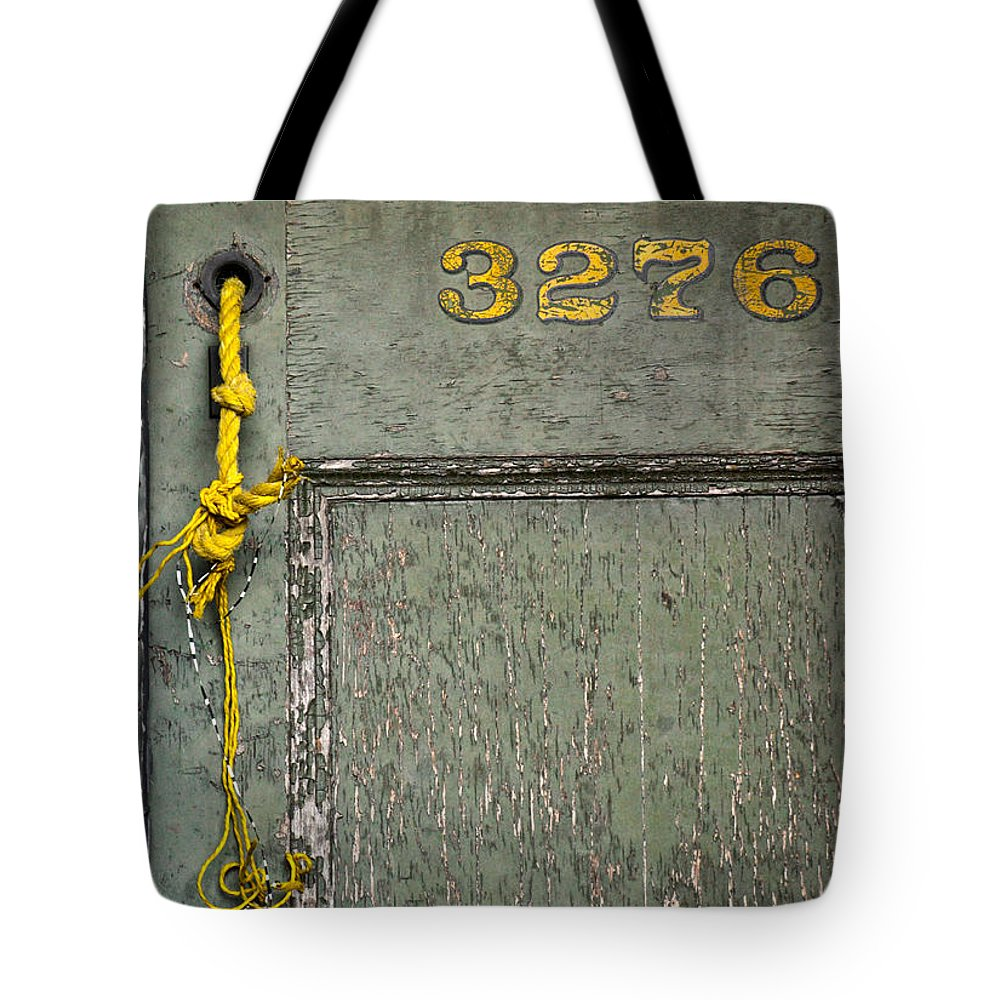 Doors Tote Bag featuring the photograph Roped Indoors by The Artist Project