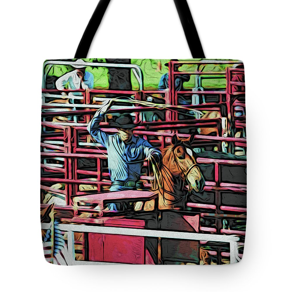 Roper Tote Bag featuring the photograph Roper Ready by Alice Gipson