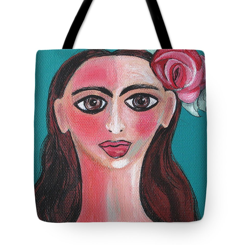 Canvas Tote Bag featuring the painting Rosa by Sue Wright