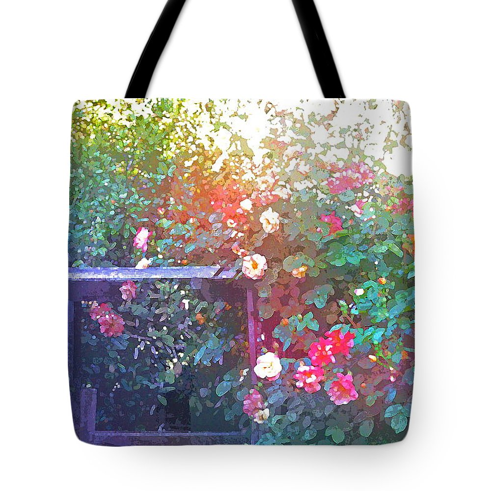 Floral Tote Bag featuring the photograph Rose 205 by Pamela Cooper
