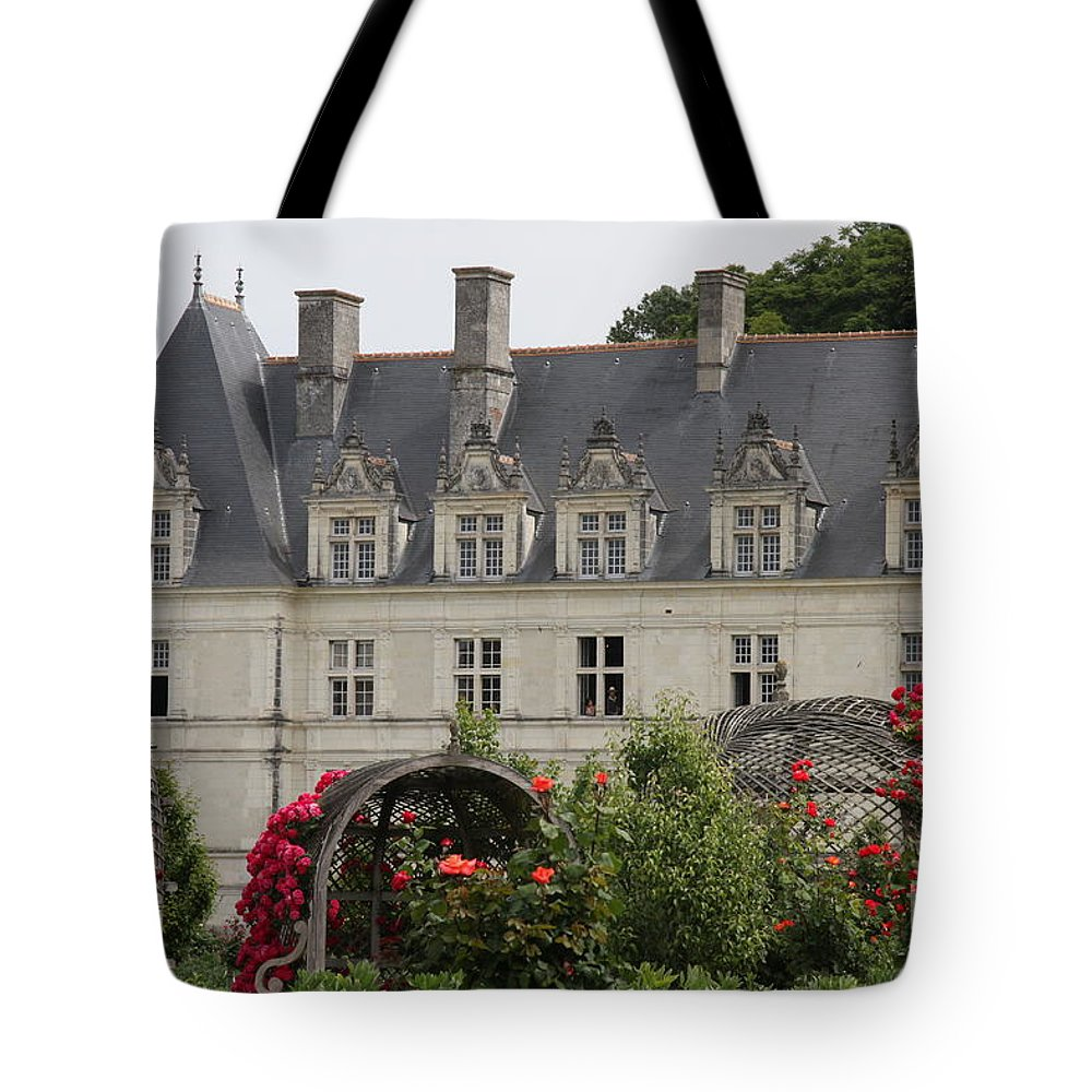 Roses Tote Bag featuring the photograph Rose And Cabbage Garden Chateau Villandry by Christiane Schulze Art And Photography