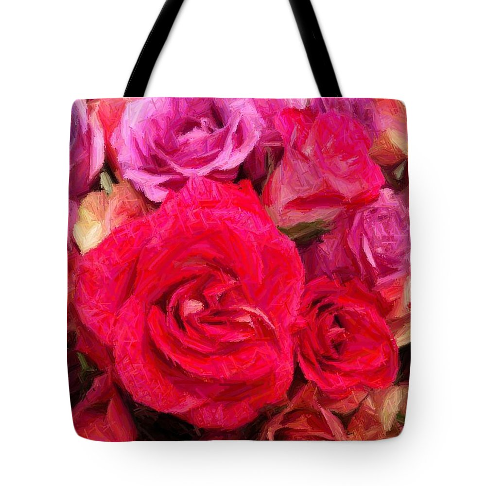 Rose Tote Bag featuring the photograph Rose Enhanced by Marian Palucci-Lonzetta