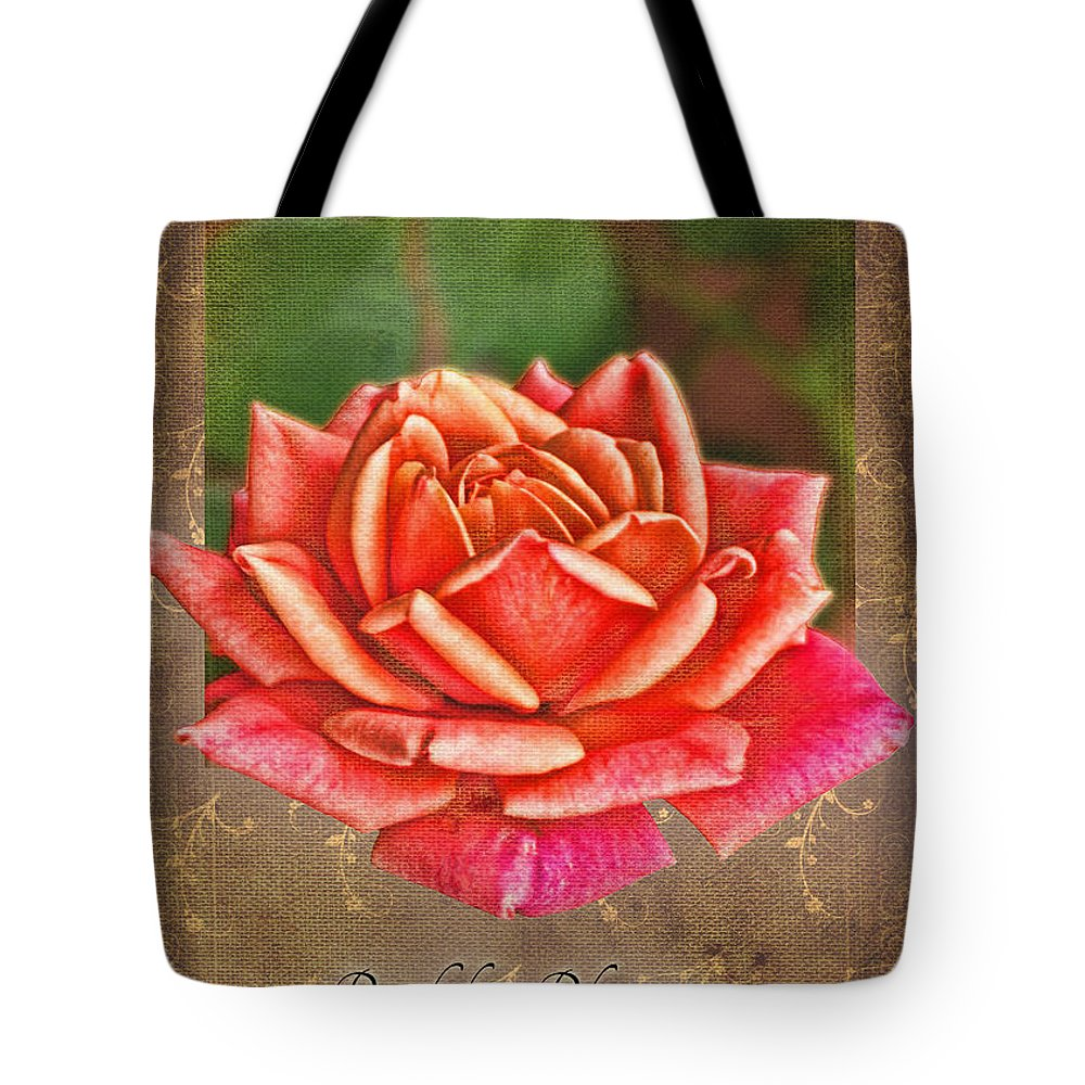 Nature Tote Bag featuring the photograph Rose Greeting Card Birthday by Debbie Portwood