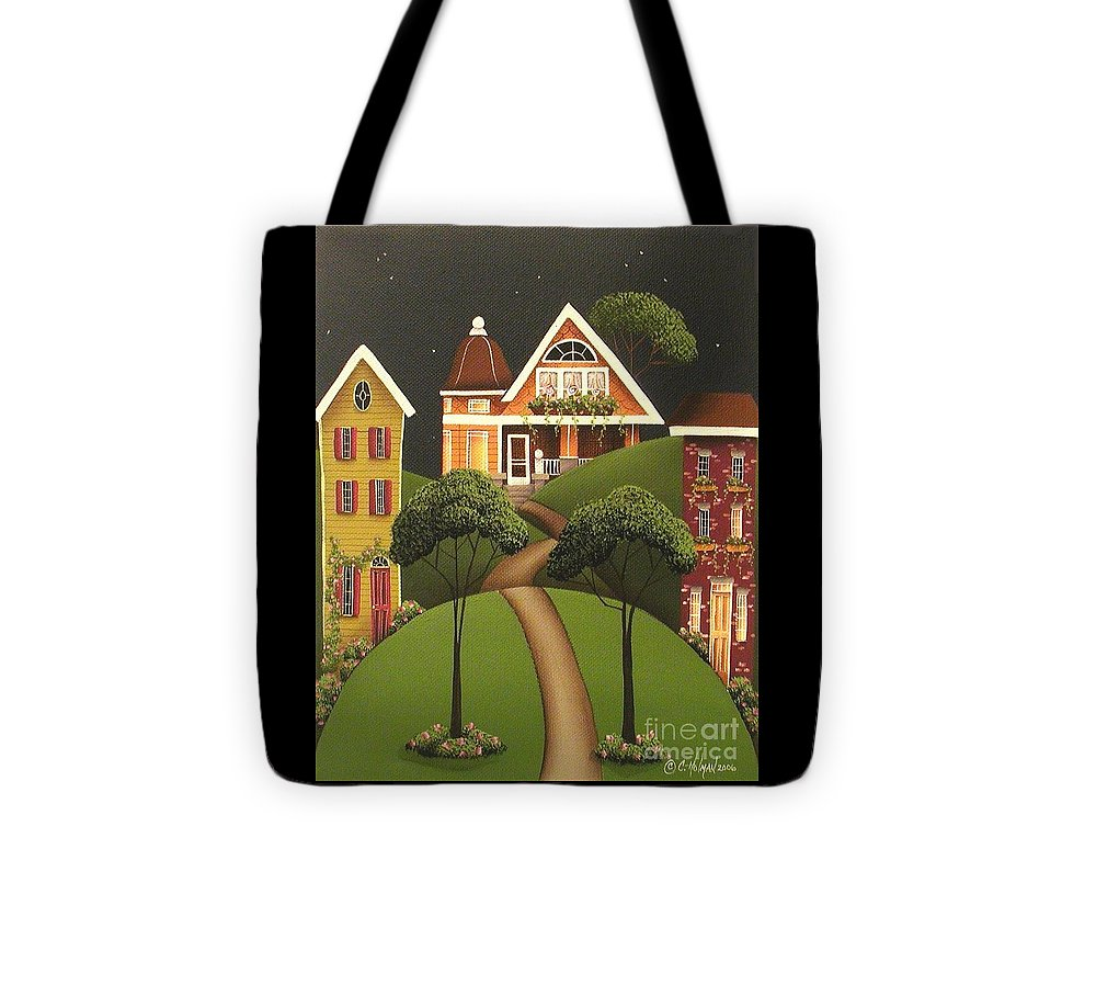 Art Tote Bag featuring the painting Rose Hill Lane by Catherine Holman
