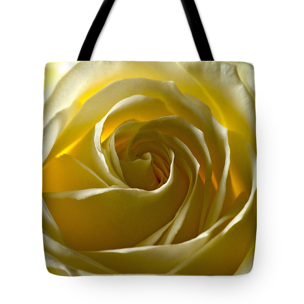 Rose Tote Bag featuring the photograph White Rose by Scott Carruthers