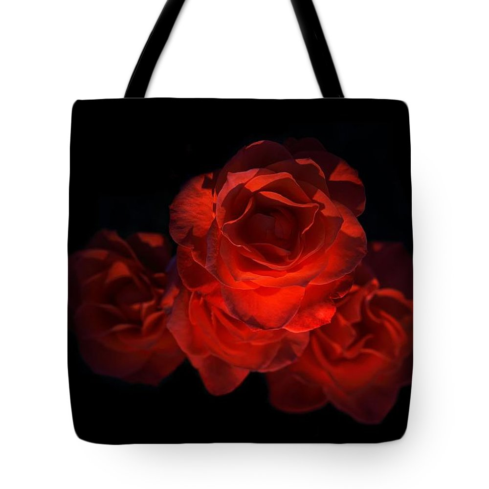 Blossom Tote Bag featuring the photograph Rose Three by David Andersen