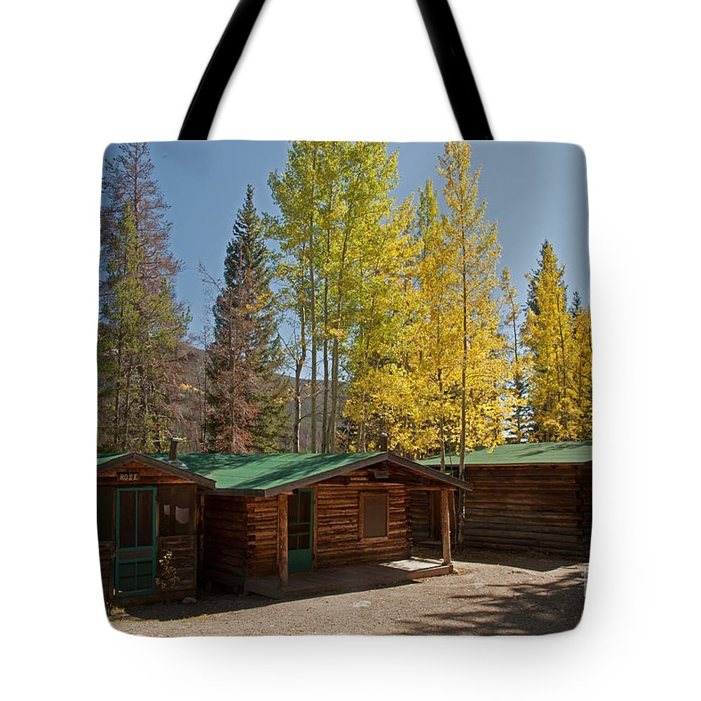 Afternoon Tote Bag featuring the photograph Rose Twin 1 And Twin 2 Cabins At The Holzwarth Historic Site by Fred Stearns