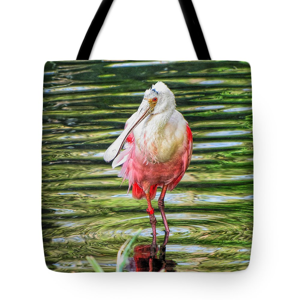 Spoonbill Tote Bag featuring the photograph Roseate Spoonbill by C H Apperson
