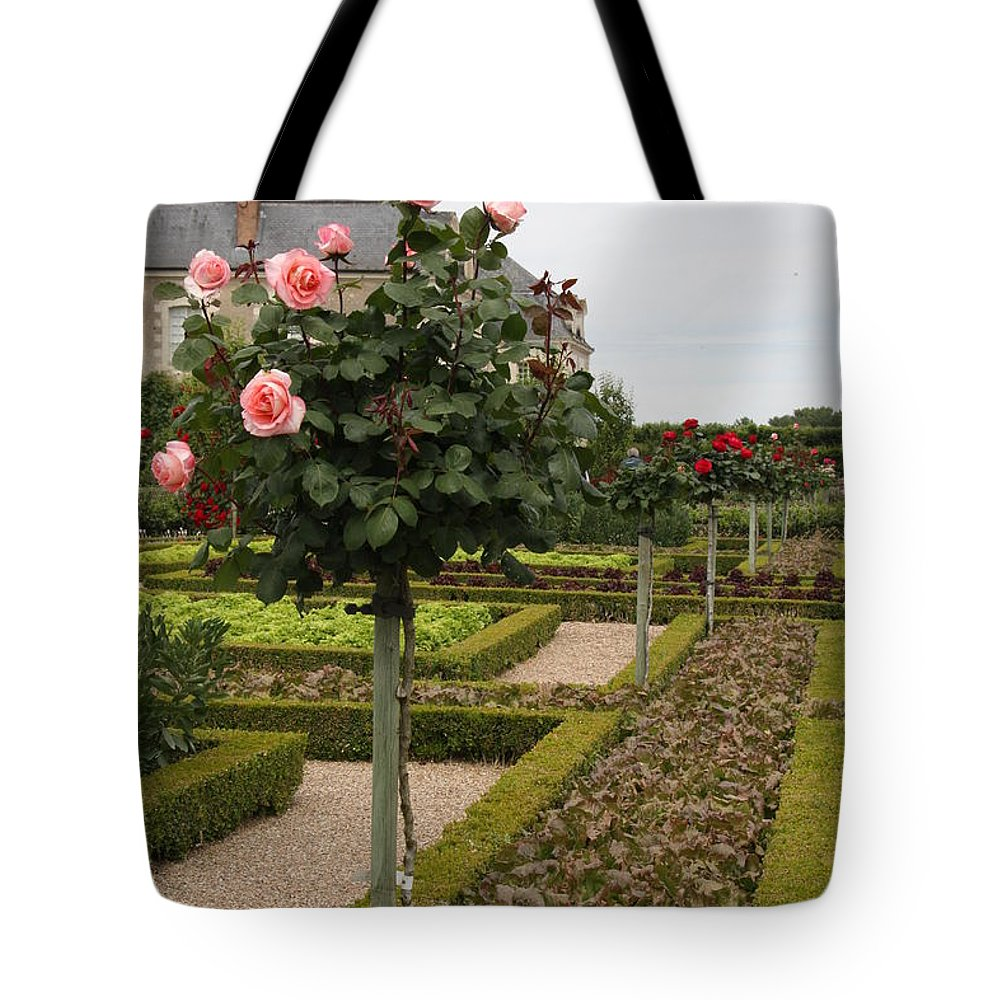 Roses Tote Bag featuring the photograph Roses And Salad - Chateau Villandry by Christiane Schulze Art And Photography