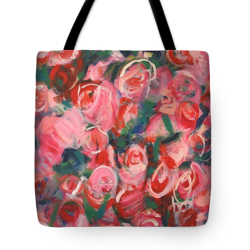 Roses Tote Bag featuring the painting Roses by Fereshteh Stoecklein