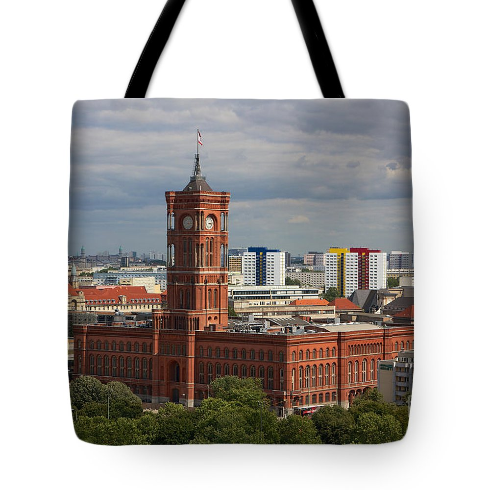 Achitectural Tote Bag featuring the photograph Rotes Rathaus Berlin by Jannis Werner
