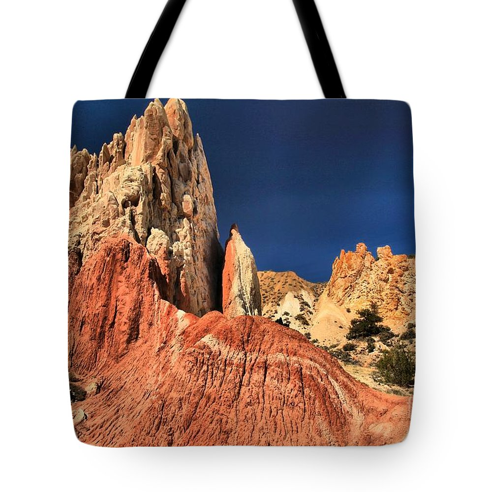 Cottonwood Road Tote Bag featuring the photograph Rough Rainbow Colors by Adam Jewell