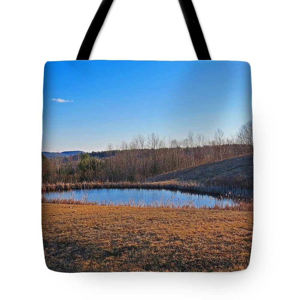 Round Pond Tote Bag featuring the photograph Round Pond by MTBobbins Photography