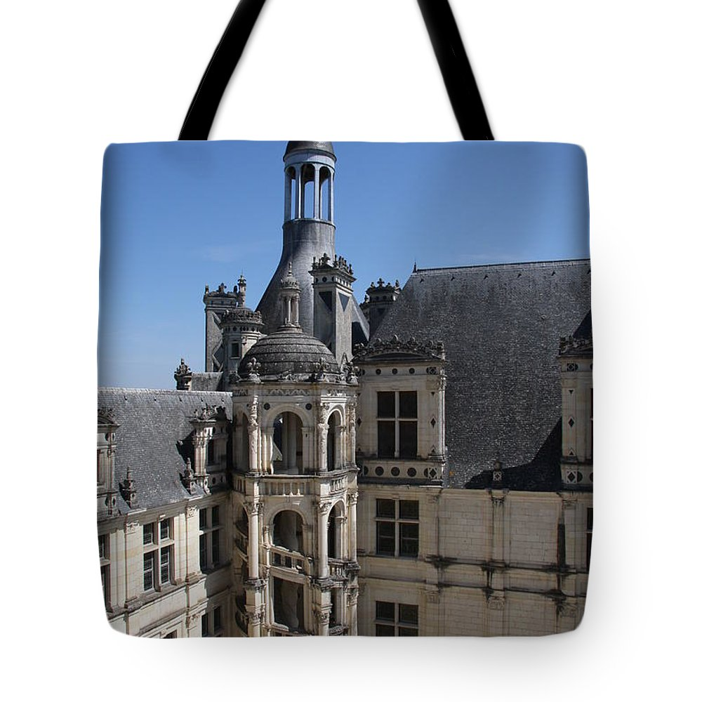 Palace Tote Bag featuring the photograph Round Stairway by Christiane Schulze Art And Photography