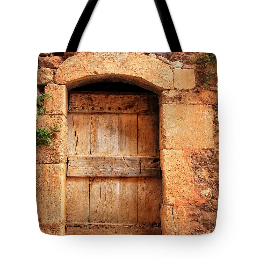 Europe Tote Bag featuring the photograph Roussillon Door by Inge Johnsson