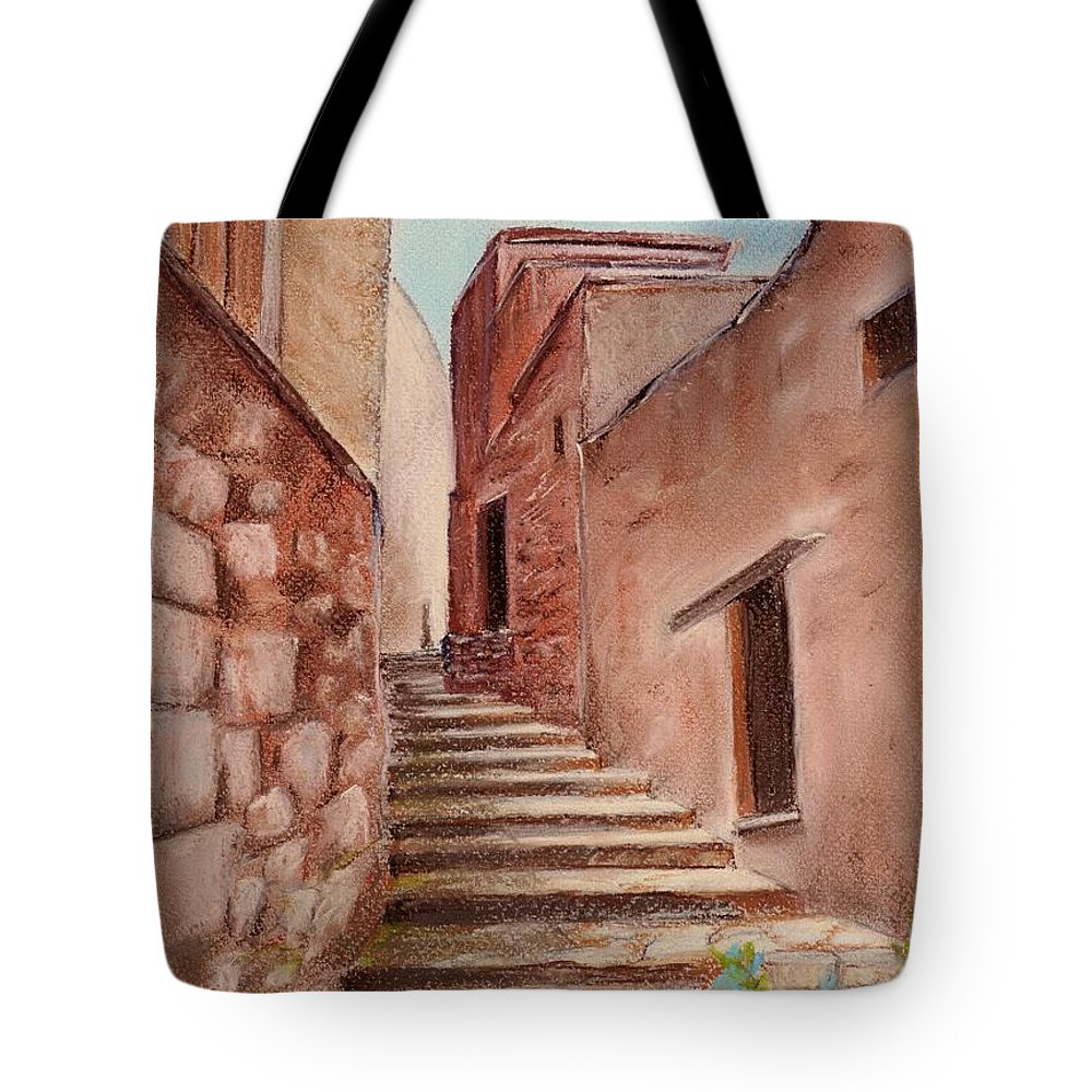 Old Tote Bag featuring the painting Roussillon Walk by Anastasiya Malakhova