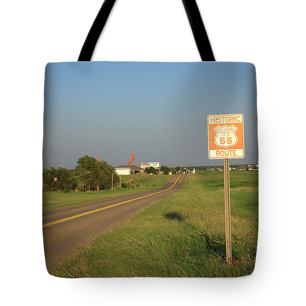 66 Tote Bag featuring the photograph Route 66 - Oklahoma by Frank Romeo