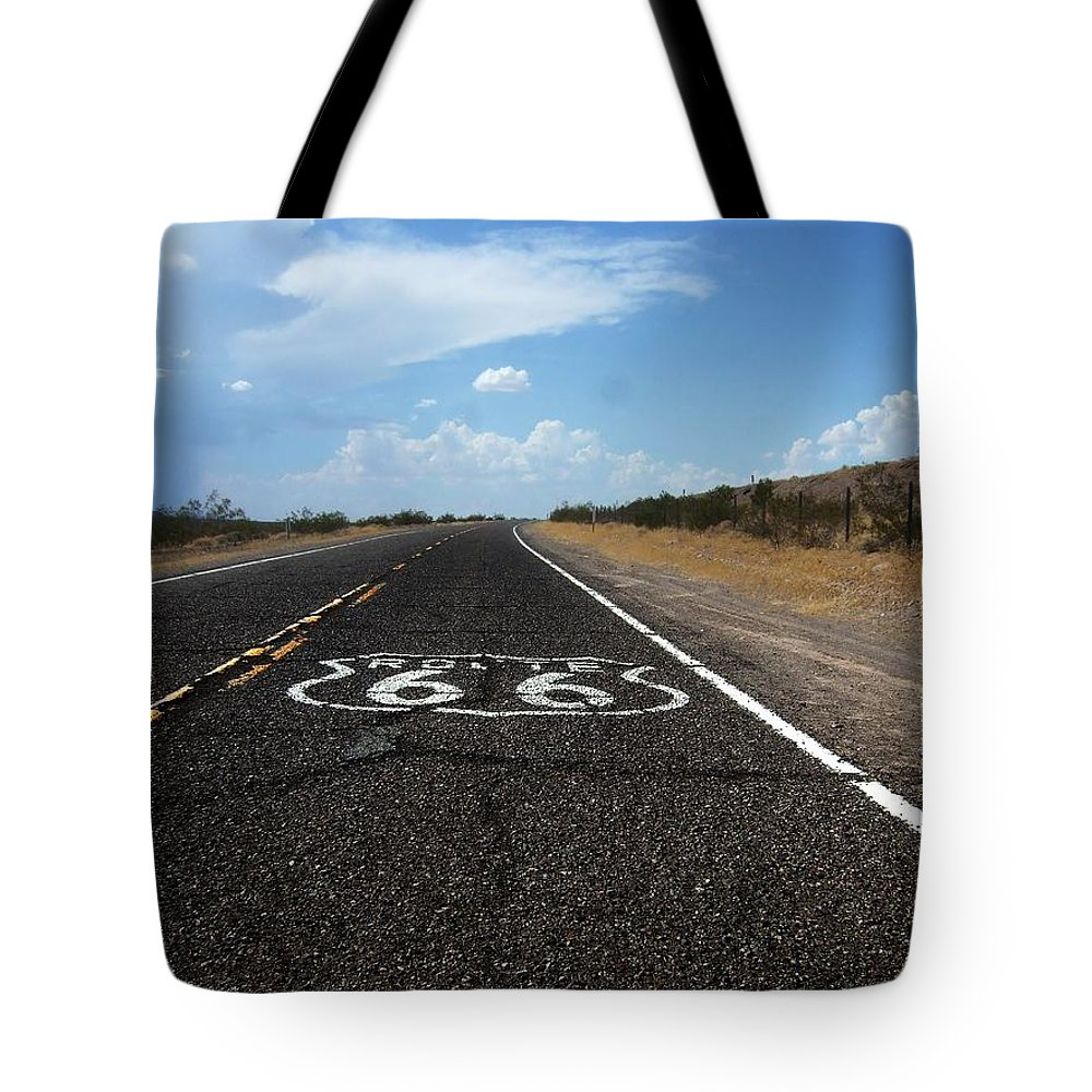 Route 66 Tote Bag featuring the photograph Route 66 by Steve Ondrus