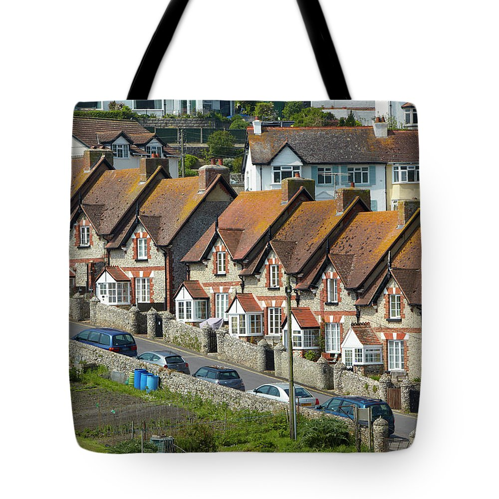 Row House Tote Bag featuring the photograph Row Of Houses by Allan Baxter