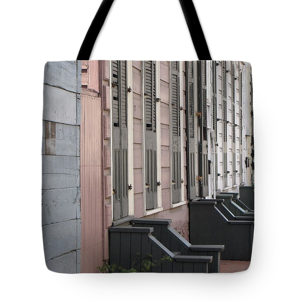 Houses Tote Bag featuring the photograph Row Of Houses II by Beth Vincent