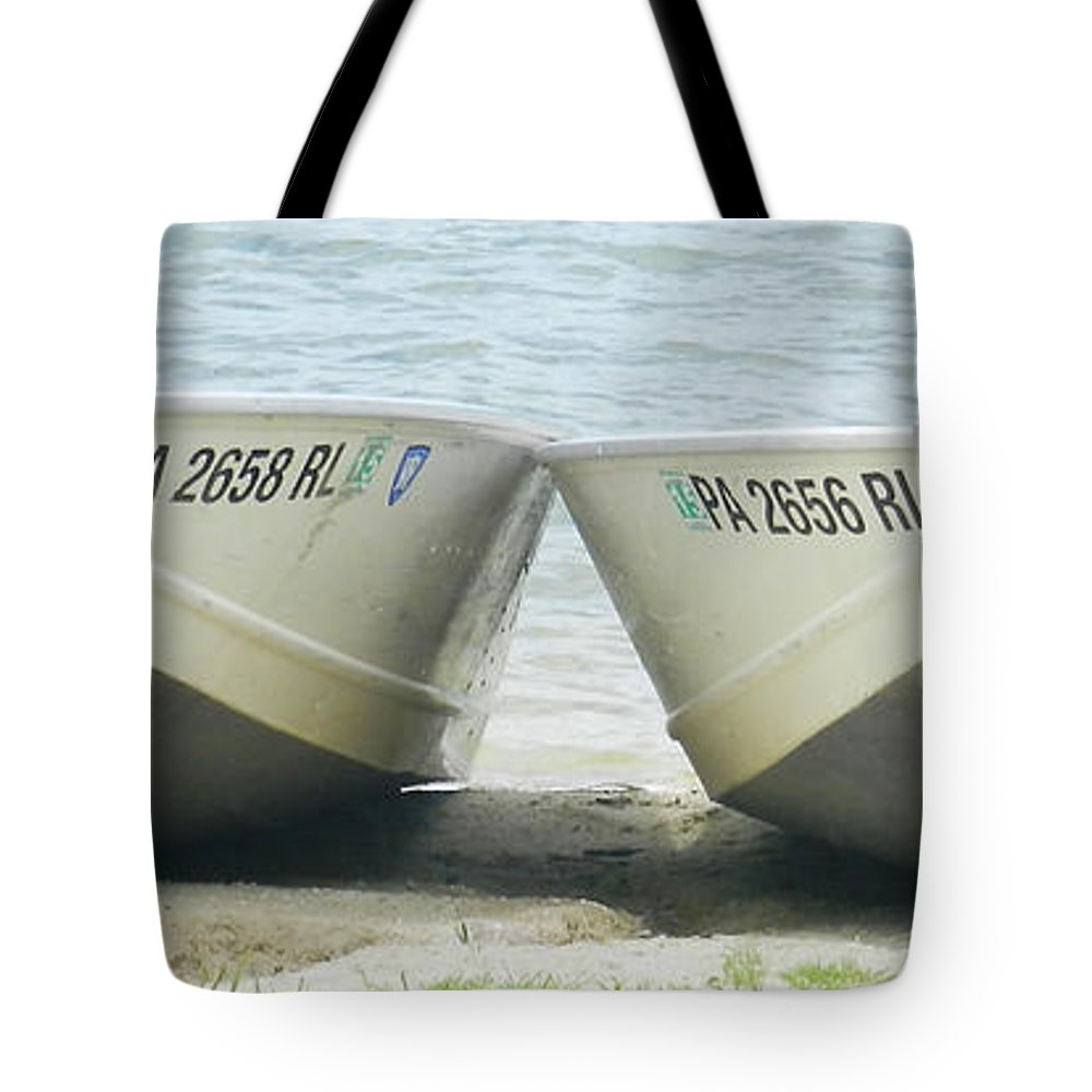 Row Boat Tote Bag featuring the photograph Row Row Row Your Boat by Lori Amway
