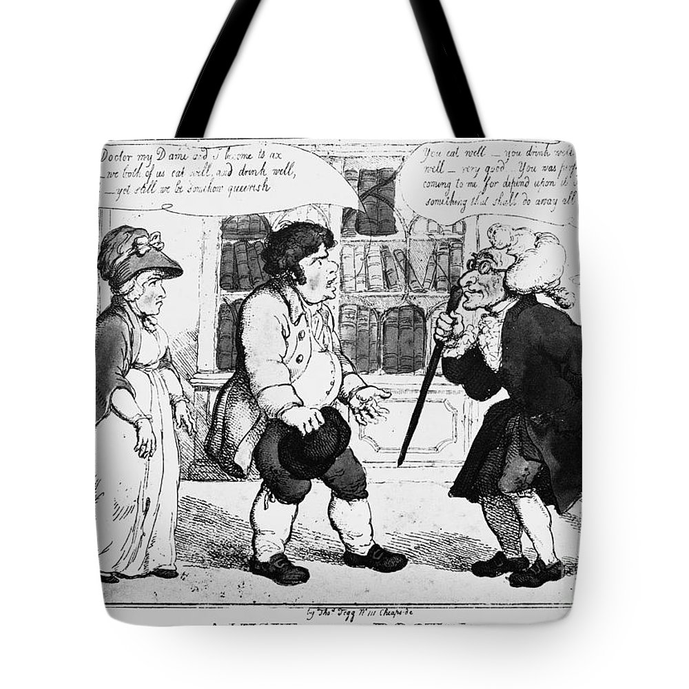 18th Century Tote Bag featuring the photograph Rowlandson: Cartoon by Granger