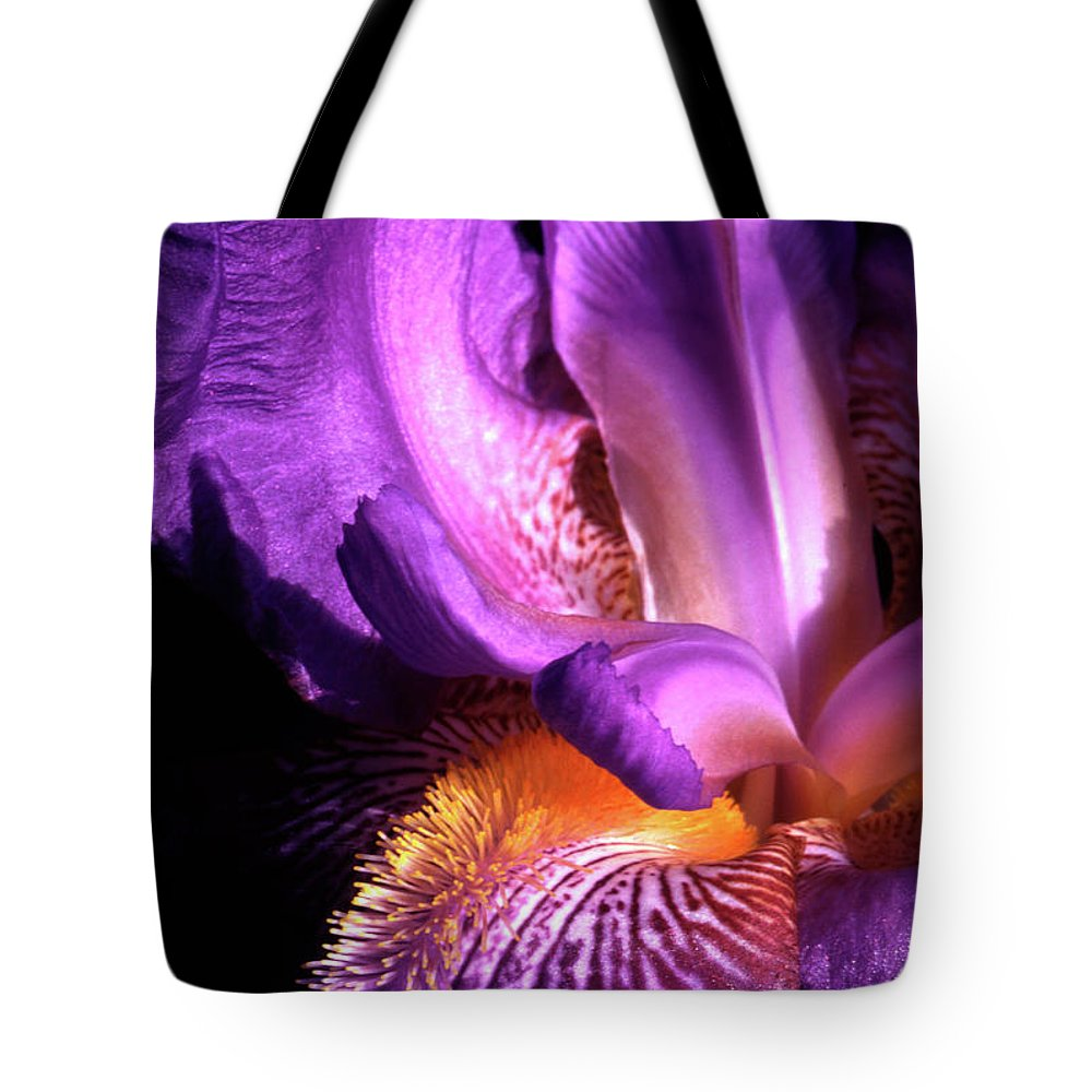 Iris Tote Bag featuring the photograph Royal Iris by Paul W Faust - Impressions of Light