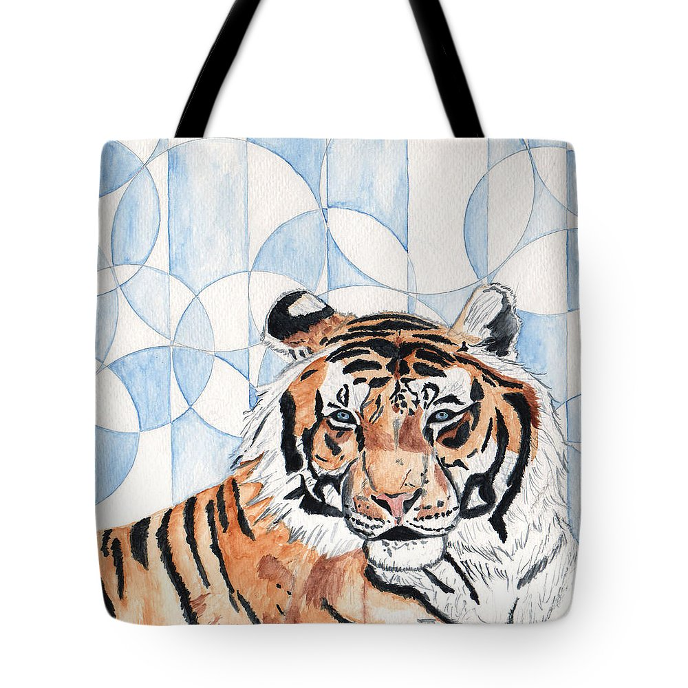 Tiger Tote Bag featuring the painting Royal Mysticism by Crystal Hubbard
