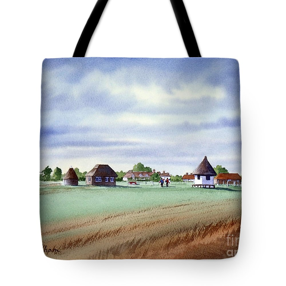 Golf Tote Bag featuring the painting Royal Saint George's Golf Course by Bill Holkham