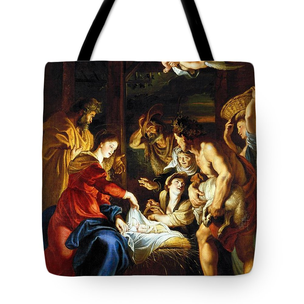 1608 Tote Bag featuring the photograph Rubens Adoration by Granger