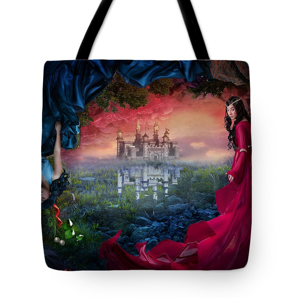 Fantasy Tote Bag featuring the digital art Ruby by Cassiopeia Art