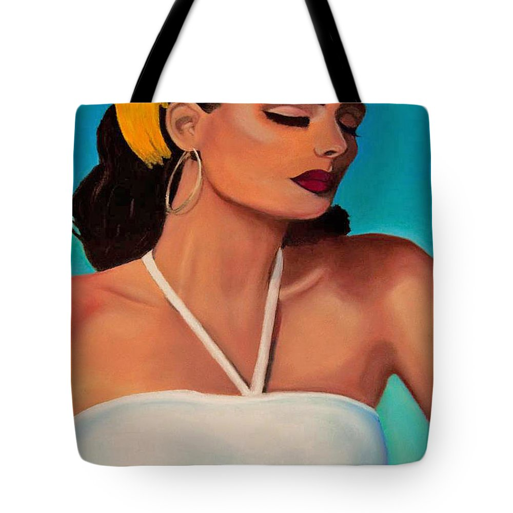 Woman Tote Bag featuring the painting Ruby by Dana Kern