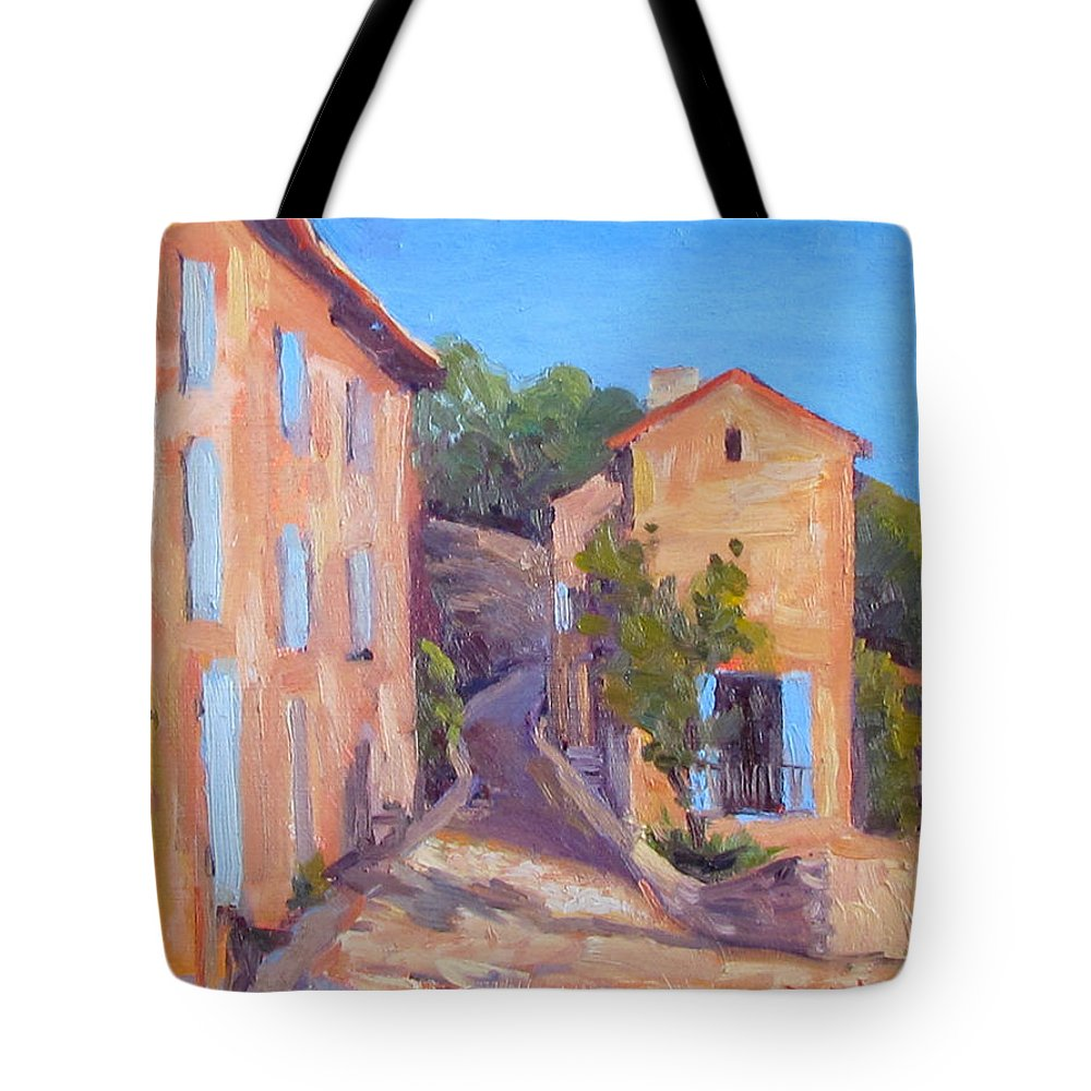 Gordes Tote Bag featuring the painting Rue De Gordes by Dianne Panarelli Miller