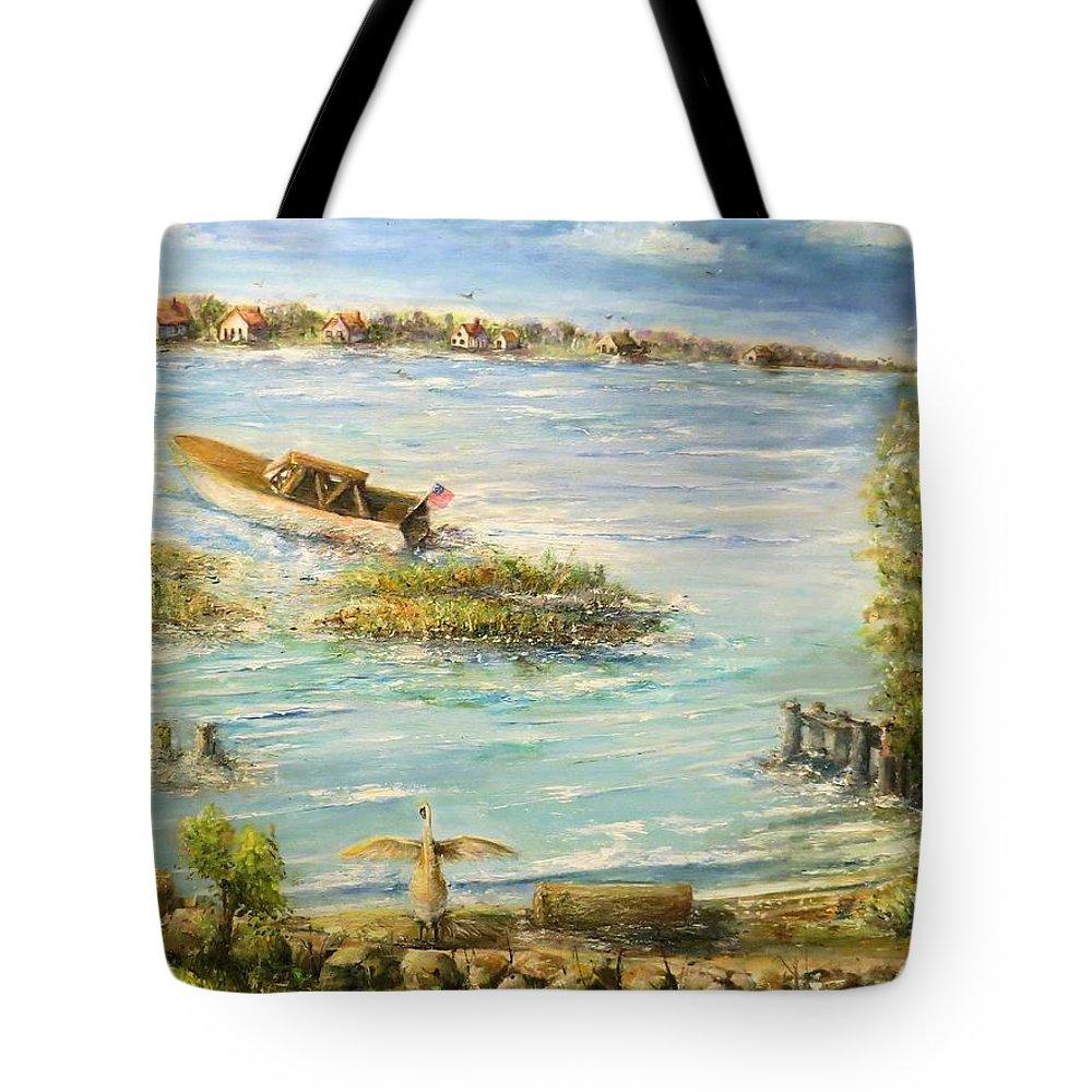 Water Tote Bag featuring the painting Ruedisale by Bernadette Krupa
