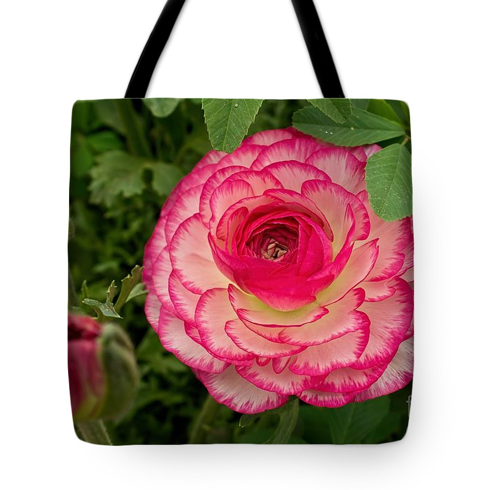 Pink Tote Bag featuring the photograph Ruffles by Peggy Hughes