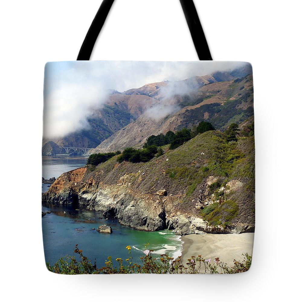 Coastal California Tote Bag featuring the photograph Rugged California Seashore by Jeff Lowe