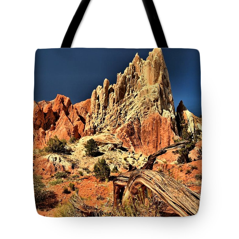 Cottonwood Road Tote Bag featuring the photograph Rugged Rainbow by Adam Jewell