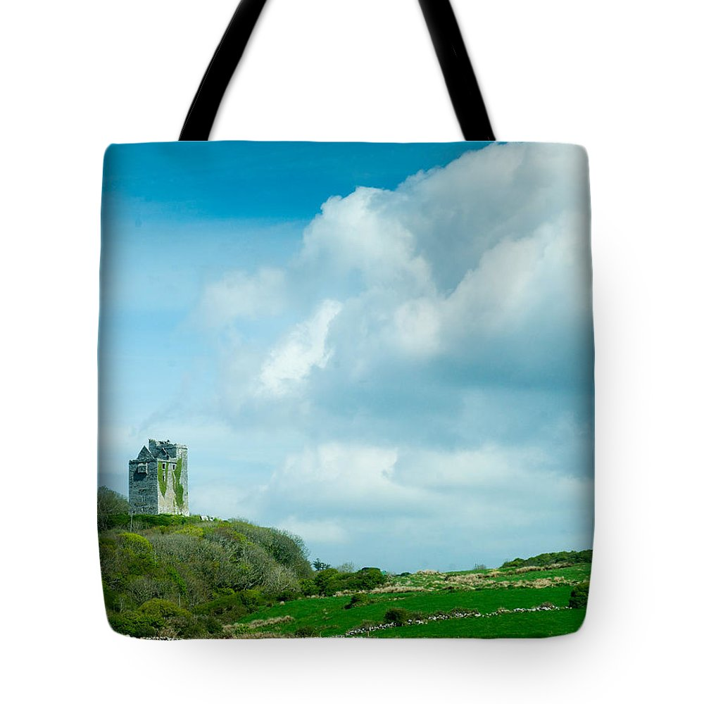 Castle Tote Bag featuring the photograph Ruins Of Irish Castle by Douglas Barnett