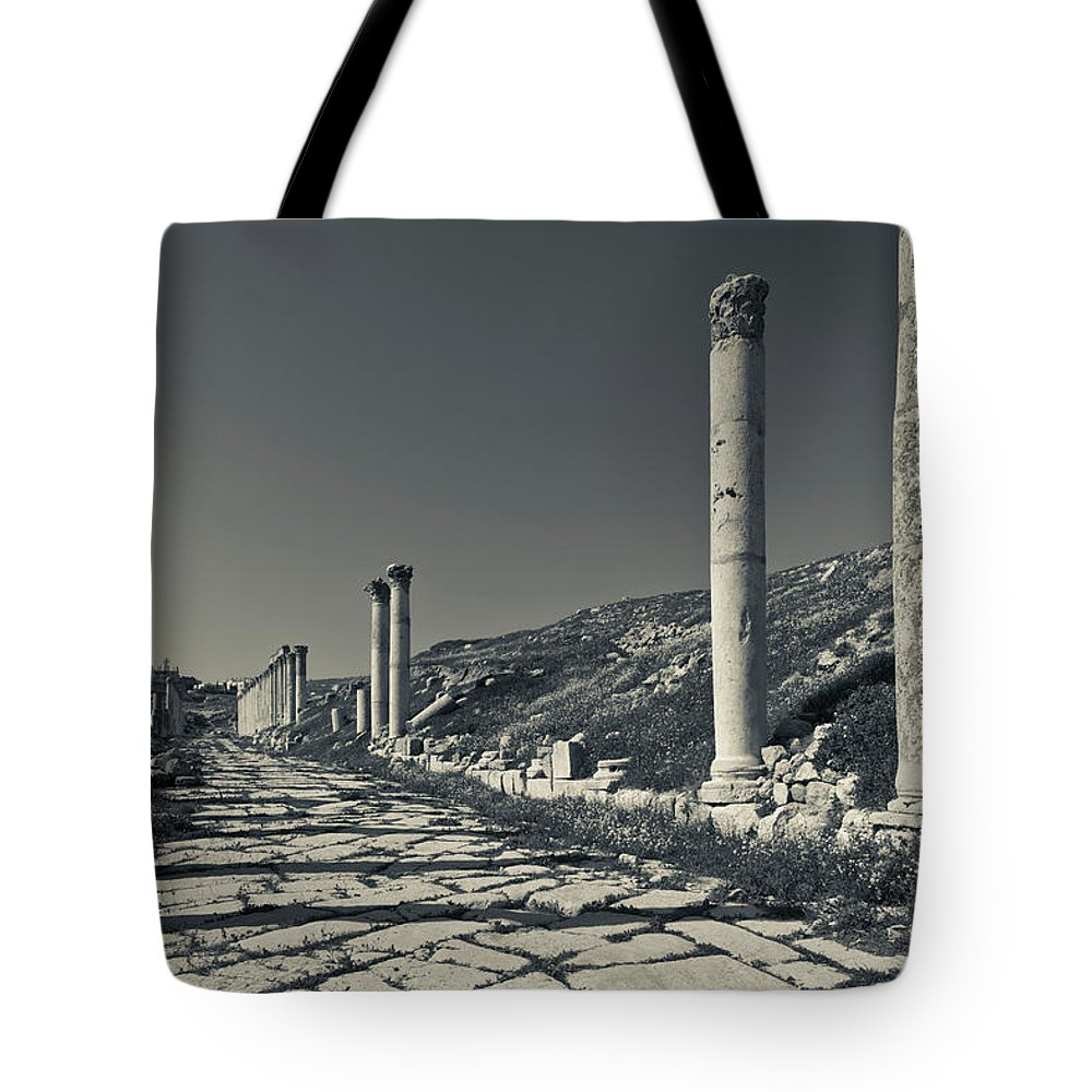 Photography Tote Bag featuring the photograph Ruins Of Roman-era Columns by Panoramic Images