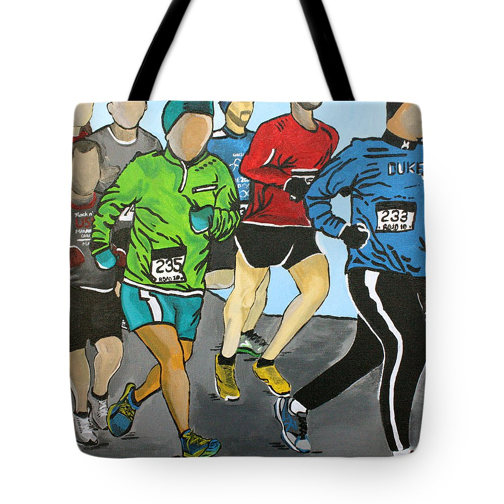 Run Tote Bag featuring the painting Run by Wendy May